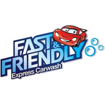 Fast & Friendly Car Wash Logo